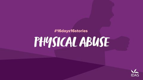 Physical abuse - shadow of an abusive man